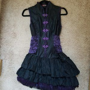 Qutie Frash Qi Lolita Gothic Punk Mini Dress